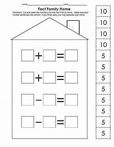 division worksheets 6202 make 10 worksheets fact family addition subtraction craftivity fact families homeschool