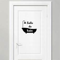 Sticker Porte Salle De Bain Baignoire Stickers Salle De