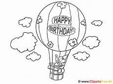 ausmalbilder geburtstag luftballons geburtstagstorte