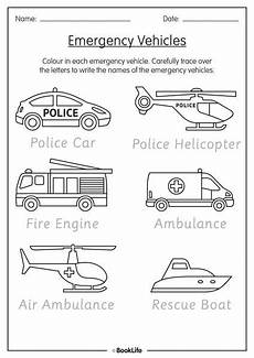 coloring pages of emergency vehicles 16464 free activity sheet emergency vehicles booklife