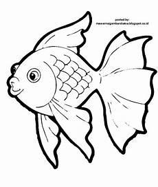 mewarnai gambar mewarnai gambar sketsa hewan ikan 2