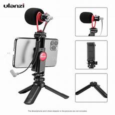 phone interview shopee ulanzi smartphone video kit 1 with mini desktop tripod phone holder video microphone for