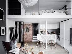 chic scandinavian studio with lofted a tiny scandinavian loft apartment small loft apartments