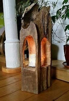 Holz Design Deko - windlicht laterne aus holzbalken alt eichenbalken stele