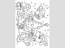 Bilde å fargelegge julegaver til dyr   bil 23373.