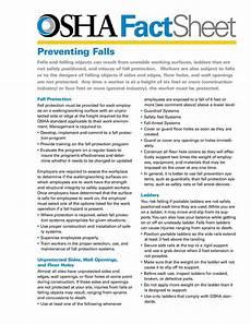 osha fact sheet osha fact sheet fall protection systems