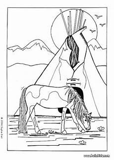 Malvorlagen Indianer Ausmalbilder Indianer Pferd Ausmalbilder