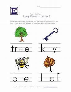 long vowel e worksheet pre k kindergarten pinterest long vowels worksheets and phonics
