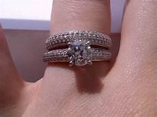 elegant wedding band engagement ring order on finger
