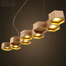 Slatted Wooden Honeycomb Structure Pilke Series Pendant