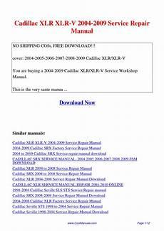 free online car repair manuals download 2009 cadillac dts on board diagnostic system 2004 cadillac srx service manual