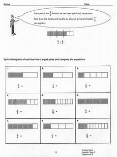 fraction bar worksheet