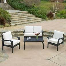 outdoor patio furniture pe wicker luxury 4pcs sofa seating ebay