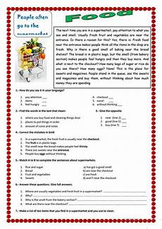 reading exercises for beginners 19151 food worksheet free esl printable worksheets made by teachers