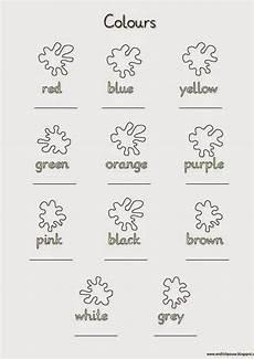 Ausmalbilder Englisch Grundschule Schreibblatt Colours Renkler Eğitim Ve Sınıf
