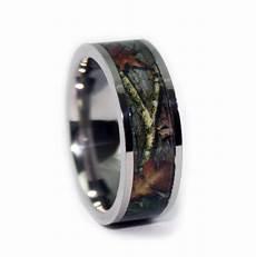 camo wedding rings by one camo flat titanium mens wedding
