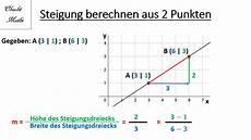 steigung berechnen 2 punkte geraden lineare