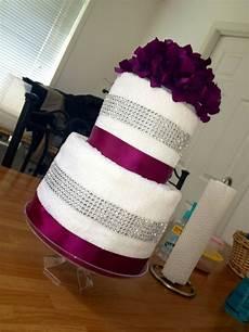 bridal shower towel cake gifts wedding shower cakes