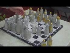 beton gießform bauen beton giessen diy ein schachspiel aus beton selber