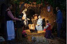 christmas with three wise men and baby jesus stock