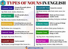 10 types of nouns that you use all the time english