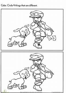 spot the difference mailman worksheet education com