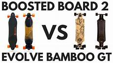 Boosted Board 2 Vs Evolve Bamboo Gt Ride Evolve