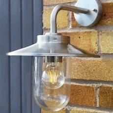 stellus modena stainless steel down light outdoor wall lantern lumena