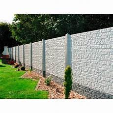 betonpfosten für gartenzaun betonzaun platte quot fels quot 200 cm x 38 5 cm x 3 cm kaufen bei obi