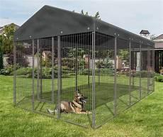 kit chenil pour chien galva avec toit 9 60 m2 animaloo