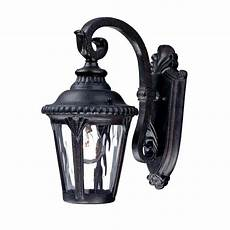 acclaim lighting surrey collection 1 light black gold outdoor wall light fixture 7200bg