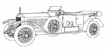 Roll Royce Continental Antique Car Coloring Pages
