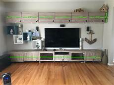 ikea best 195 tv unit combination walnut effect light gray