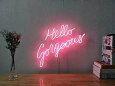 new hello gorgeous neon sign for bedroom wall decor artwork with dimmable dimmer ebay