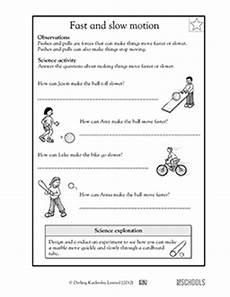 science worksheets on and motion 12334 new 542 grade science worksheets motion firstgrade worksheet