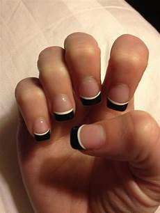 black french tip cute nail design nails pinterest