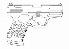 ausmalbilder zum drucken malvorlage pistole kostenlos 2