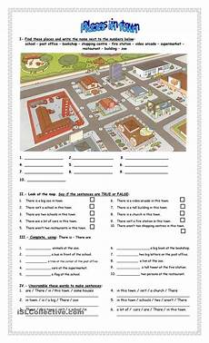 places in town writing worksheets 16040 places in town educacion ingles actividades de ingles profesores de ingl 233 s