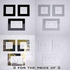 light switch socket surround single or double finger plate wall protector ebay