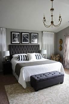 Bedroom Ideas Grey Headboard by Black Headboard Gray Walls Bedroom Grey Ideas Chic