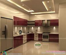 Kitchen Room Interior Grand And Stylish Interior Designs Kerala Home Design