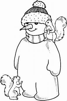 malvorlage kinder schneemann schneemann mit wintermuetze ausmalbild malvorlage kinder