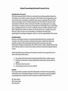 free 9 school counseling forms in pdf ms word