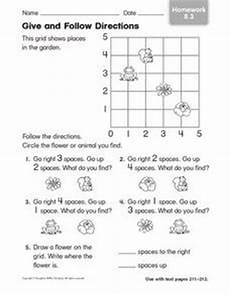 following directions worksheets second grade 11769 give and follow directions homework 1st 2nd grade worksheet lesson planet
