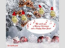 merry christmas and happy new year word