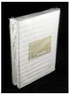 fully elasticated fitted sheet striped double 12 quot deep 100 cotton sateen white ebay