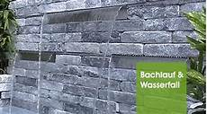 mauer mit wasserfall oase wassergarten de oase teichshop bachlauf