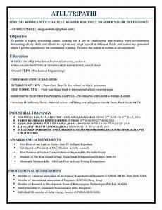 resume mechanical engineer resume sle