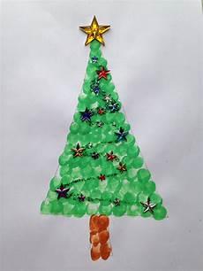fingerabdruck tannenbaum weihnachtskarten basteln mit