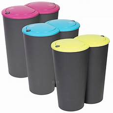 Recycle Kitchen Electronics by Circular Recycling Waste Bin Duo Rubbish Plastic
